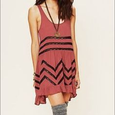 Free people trapeze slip dress in rust Free people trapeze slip dress in rust, size small, beautiful piece but I also have it in white and i thought it would be best to get rid of one of them Free People Dresses
