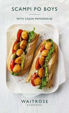 A traditional sandwich from Louisiana incorporates a classic British favourite. This quick and easy recipe is ready in just 25 minutes. To spice it up, add a splash of tabasco sauce to the Cajun mayonnaise. Tap for the full Waitrose & Partners recipe. Fish Recipes, Lunch Recipes, Seafood Recipes, Cooking Recipes, Waitrose Food, Fish Dishes, Quick Easy Meals, Food Inspiration, Love Food