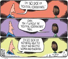 Trolls, Political Correctness, Cartoon
