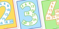 Number Multiples Display Individual Posters - multiplication posters, multiples poster, number multiples, multiplication to 12 posters, numeracy display Classroom Displays, Math Classroom, Classroom Setup, Math Resources, Math Activities, Numeracy Display, Teaching Posters, Primary Teaching, Professor