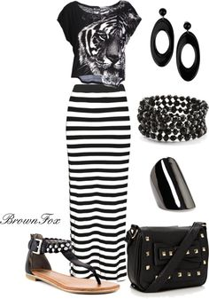 """Black Tiger"" by brownfox1 ❤ liked on Polyvore"