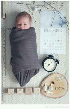 Cute idea to announce Name/Date/Weight