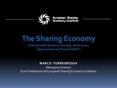 The Sharing Economy - Training Toolkit Based on Strengths, Weaknesses, Opportunities and Threats