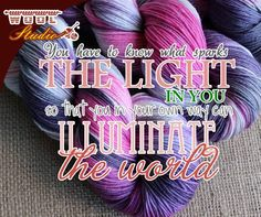 You have to know what sparks the light in you, so that you in your own way can illuminate the world! #WoolStudio #SundayMotivation