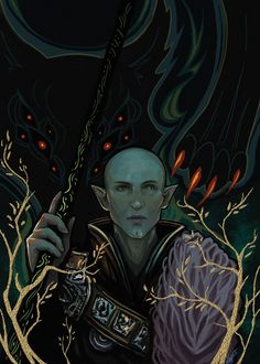 Soo....since the dragon age obsession isn't leaving me just yet. Here is my newest creation! Got very inspired like so many others by the cool tarot cards ingame And I wanted to draw Solas again. E...