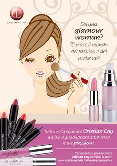 Ti piace il mondo della #cosmetica e del #makeup? Entra a far parte della squadra #CristianLay: http://www.cristianlayitalia.it/diventa-presentatrice/