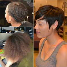 Pixie Cut Sew-In Weave Short Sew in weave hairstyles shop now at www. Weave Hairstyles, Girl Hairstyles, Teenage Hairstyles, School Hairstyles, Hairstyles Videos, Short Sew In Hairstyles, Relaxed Hairstyles, Amazing Hairstyles, Hairstyles Pictures