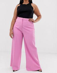 ASOS DESIGN Curve wide leg suit trousers   ASOS