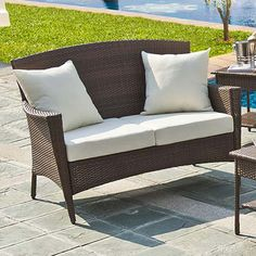 Key Biscayne Loveseat with Cushion | Wayfair