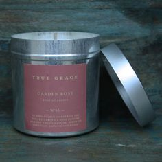 True Grace introduces wonder, romance and sophistication with their collection of elemental scented candles and room fragrances hand-made in Wiltshire, England, using the finest natural ingredients including rapeseed and beeswax. <br /> <br />A rose blooms against the old stone. Hints of Geranium, Jasmine and wood. <br /> <br />Presented in a zinc container...