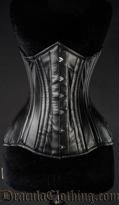 Faux Leather Extreme Waist Corset