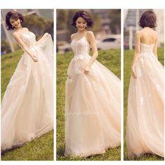 93f3378d6b702 欧米風 シャンパンカラードレス  6サイズ