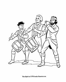 the spirit of 76 coloring pages america revolution coloring sheets - American Revolution Coloring Pages