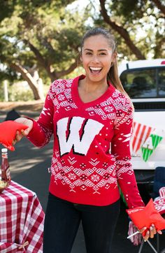 Women's University of Wisconsin sweater. Feels as good as beating those Buckeyes. Go Badgers!