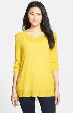 Two by Vince Camuto Split Shirttail Back Knit Tunic available at #Nordstrom