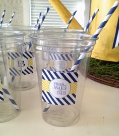 Home by Heidi Blog, Baby Boy Shower- Green, Blue & Yellow. Snails and puppy dog tails