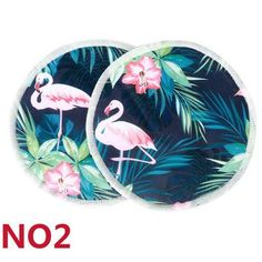 "Nursing Pads  ""Jungle Flamingos"""