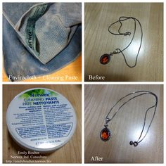 Clean your jewelry in seconds with the all-natural Cleaning Paste and a damp EnviroCloth. http://emilyboulter.norwex.biz