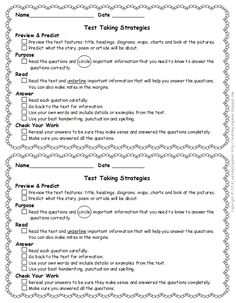Test Taking Strategies For Elementary Reading - Well, its spring and you know what that means…baseball, daffodils, baby ducks, allergies and STANDARDIZED TESTING!
