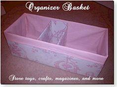 Sew an Organizer Basket with a Divider