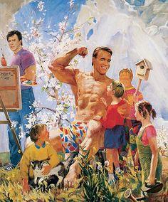 Schwarzenegger painting