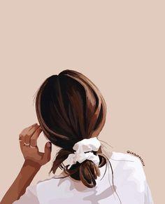 Illustration Mode, Illustrations, Portrait Illustration, Abstract Face Art, Cartoon Art Styles, Aesthetic Art, Cute Wallpapers, Art Girl, Art Drawings