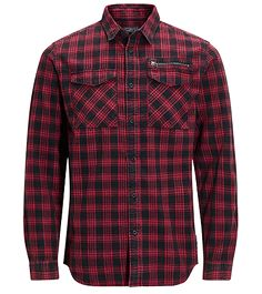 Wardrobe essential: red and black checkered shirt | ORGINALS by JACK & JONES