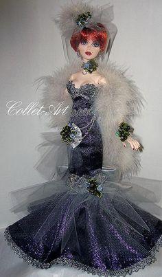 "Tonner Wilde Imagination 18.5"" Evangeline Ghastly Parnilla OOAK Fashion ""New Year Celebration - Gothic Style"" Collet-Art   Flickr - Photo Sharing!"