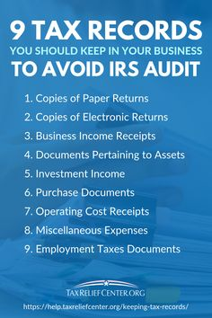 To avoid an IRS audit, or to be prepared should the agency demand for it, you must have essential tax records at your disposal. Small Business Bookkeeping, Small Business Accounting, Bookkeeping Services, Accounting Basics, Business Planning, Business Tips, Financial Tips, Financial Binder, Income Tax Preparation