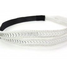 Headband sequin et strass de soirée