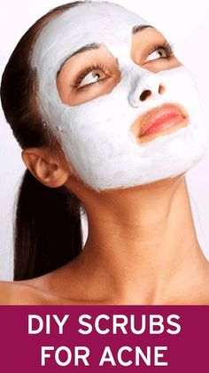 DIY exfoliating scrubs and masks for acne-prone skin (they differ depending on the type of acne)