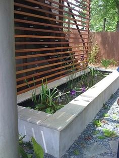 Modern trellis #garden landscape #design