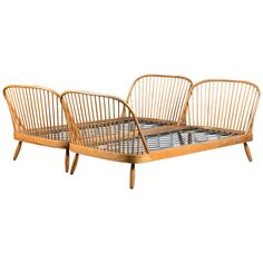 Pair of Danish Spindle Beds | From a unique collection of antique and modern beds at http://www.1stdibs.com/furniture/more-furniture-collectibles/beds/