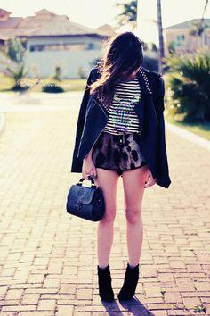 Blog da Lê-Moda Acessível: No look listras com onça