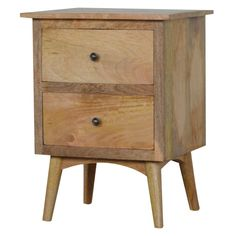 Vincent Two Drawer Bedside Table