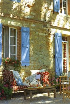Blue Shutters.. Provence, France