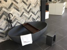 Coco stone bath in charcoal Matt. Stone Bath, Charcoal, Bathtub, Bathroom, Standing Bath, Washroom, Bathtubs, Bath Tube, Full Bath