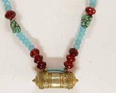 One of a Kind Tribal Inspired Necklace pray box cute necklace