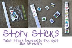 retelling, sequencing. use paint sticks
