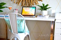 You may remember that when we moved into our beach house last year, it looked like this: After months of using the end of the dining table to perch my laptop, I added a simple white desk beneath the mirror to create a makeshift study nook off the dining room. With the big table pulled... Read more