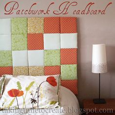 A tutorial for creating this fabulous patchwork headboard.