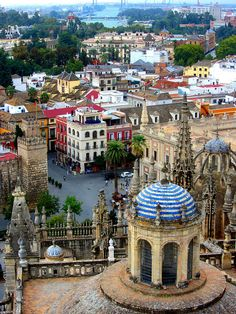 View of Sevilla from the Cathedral, Seville, Andalusia, Spain Places Around The World, The Places Youll Go, Travel Around The World, Places To See, Places To Travel, Around The Worlds, Malaga, Madrid, Granada