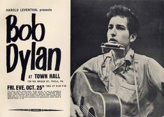 10 25 1963 - Bob Dylan Concert at Town Hall