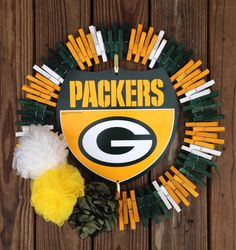 I already have a packer wreath but this would be an easy wreath for anything