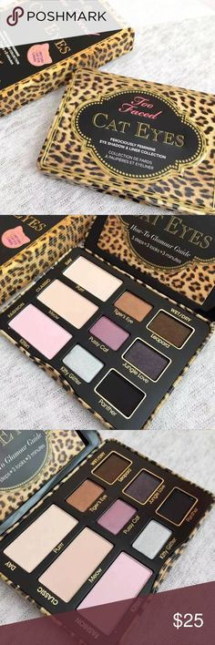 Too Faced Cat Eyes Palette • Bnib never been used Too Faced Makeup Eyeshadow
