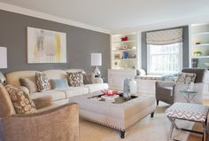 Spring Residence: cozy living/family room for a young family