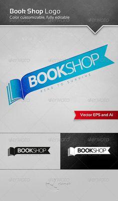 Buy Book Shop Logo by clamalt on GraphicRiver. Book Shop Logo is a simple logotype suitable for publisher, book shop, bookStore, books store, internet encyclopedias. Graphic Design Tools, Logo Design, Logo Color, Color Text, Sale Logo, Window Signs, Typo Logo, School Snacks, Book Cover Design