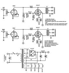 Mullard Single Ended (SE) EL84 Tube Amplifier Schematic