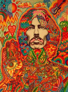George Harrison - Psychedelic, Richard Avedon - x Beatles Poster Rock Posters, Band Posters, Concert Posters, Hippie Posters, Retro Posters, Music Posters, Beatles Poster, Les Beatles, Beatles Art