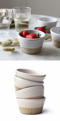 These petites are hands down one of the most versatile pieces in our collection. We like to fill them with salt, pepper, or any other spice for quick access while cooking on the stovetop. They are als